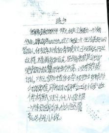 媛媛书写的第二封遗书。
