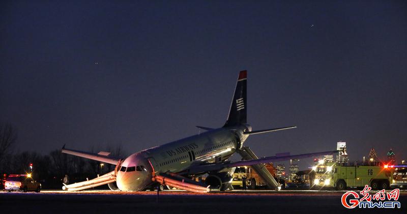 美航空a320客机起落架故障放弃起飞
