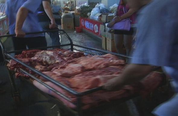 未检疫的母猪肉