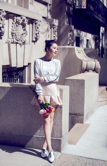 高圆圆纽约惊艳街拍 怎么可以这么美图片