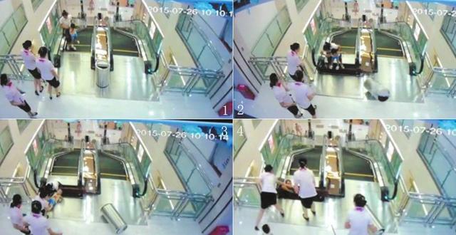 湖北女子被搅入商场扶梯身亡 最后一刻托出幼子