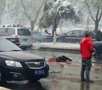 吉林市一女子横穿马路被挂车撞倒后碾压身亡