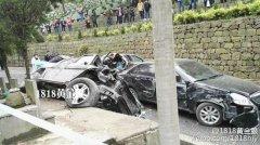 杭州公墓内豪车连撞多辆轿车 现场惨烈已致9死伤