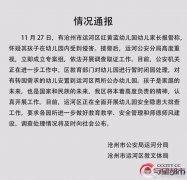 河北沧州红黄蓝幼儿园被指虐童 官方发布情况